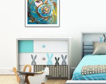 Sea Shell Printable for Kids, Coastal Printable Wall Art, Modern Bathroom Wall Decor, Painting Printable Decor, Sea Shell Coastal Wall Decor
