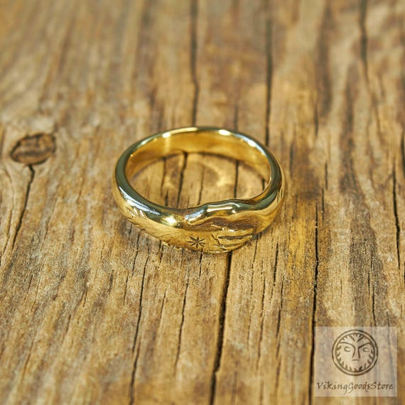 Roman Ring Wedding Clasped Hands Ancient