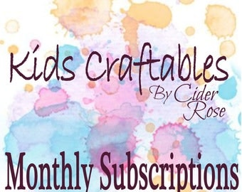 Monthly Subscription Craft Box for Kids - Craft Kits - Kids Craft Kits - Kids Crafts - DIY Craft Kits for Kids