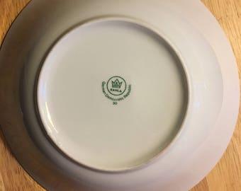 "Kahla bowl, German Democratic Republic  9"" around x 3"" deep"