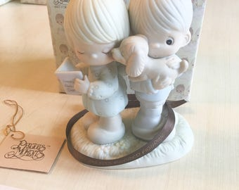Vintage Precious Moments Puppy Love Is from Above Figurine 106798