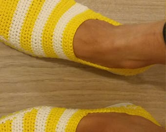 Espadrille crochet woman made by hand