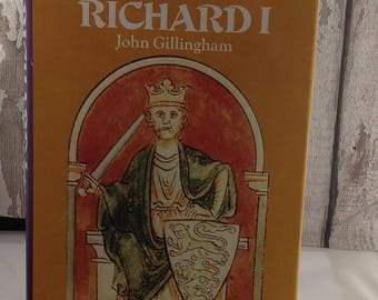 Vintage British History Book The Life and Times of Richard 1st, British History Book