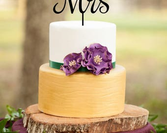 Mr and Mrs Cake Topper, Custom Cake Topper, Personalized Cake Topper for Wedding, Anniversary, Birthday