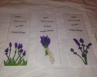 Essential Oil themed Bookmarks - Set of 3