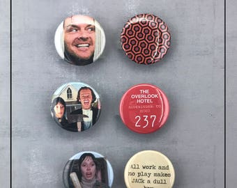 "The Shining- 1.5""  Pinback Button Set - Cult Horror Film, Stanley Kubrick"