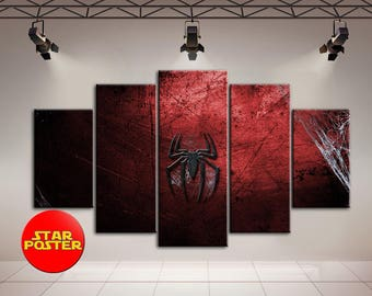 Spider-Man, Spider-Man sign, Marvel canvas, Spider-Man sign canvas, Marvel home art, Spider-Man wall decor, Marvel art, Spider-Man poster