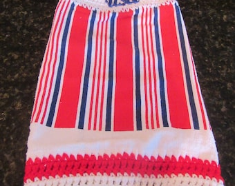 Patriotic Crochet dish towel