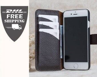 SALE wallet iPhone 6 cheap case for iPhone 6 Brown iPhone case Wallet iPhone 6 Leather iPhone cas special offer