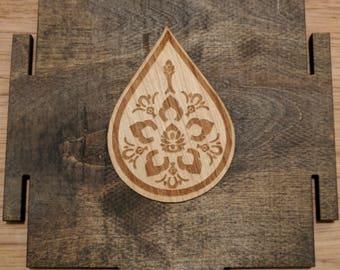 Teardrop Lotus and Jasmine Wooden Stickers - Sacred Geometry