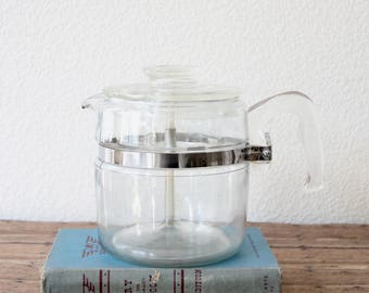 Coffee Percolator - Pyrex Percolator - Pyrex Coffee Carafe - Vintage Percolator - Vintage Carafe - Glass Percolator - Pyrex Glass Percolator