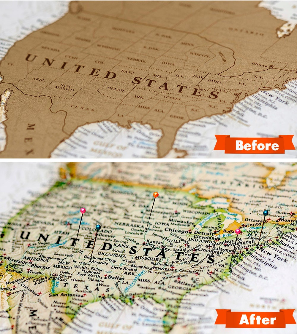 Us Map, Scratch Map Usa On The Large World Map Scratch Off  346 X 248  Inches