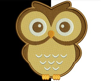 Owl embroidery design - Machine Embroidery Design - INSTANT DOWNLOAD - kids design - 10 sizes - 9 file formats