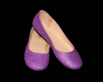 Clearance Size 8 Wedding shoes lavender wedding shoes Purple shoes purple flats purple flat shoes bridal shoes lavender shoes custom shoes