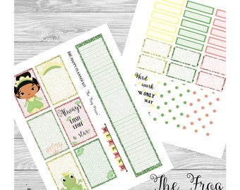 BIG Happy Planner Sticker Kit - The Frog Prince - Sidebar, Full Boxes, etc - Planner Stickers Weekly Layout - PRINTABLE with Cut Files