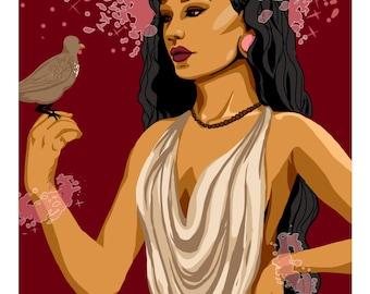 Earth Goddess, 5x7 Giclee Print