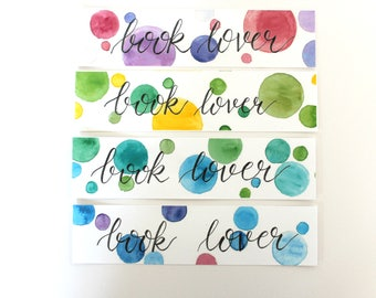 Bookmarks in Watercolor with Calligraphy