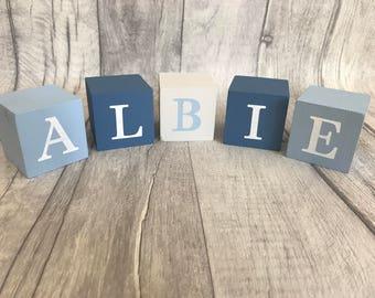 Personalised Baby Building Blocks