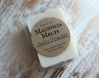 Baby Powder, Scented Soy Wax Melt, Baby Powder Wax Melt, Soy Melt, Wax Melt, Clean Scent, Baby Powder Scented, Classic Scent