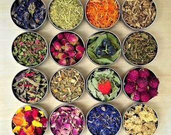 Organic Edible Flower/Medicinal Plants Calendula/Rose/Bee Balm/Peony/Sage/Blossom/Dandelion/Lily/Jasmine/Wildflower Petal/Lavender/Violet...