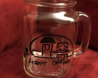 Happy Camper Glass