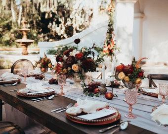 silk runner | silk table runner | silk table runner | sheer table runner |  silk chiffon table runner |  gray table runner | wedding decor