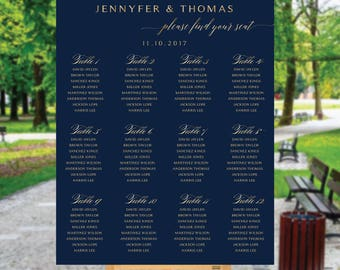 Navy seating chart, wedding seating chart poster, Wedding seating chart alphabet, Wedding seating chart template, seating chart, #109