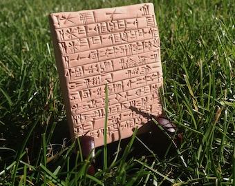 Childbirth Incantation in Sumerian on a Clay Tablet