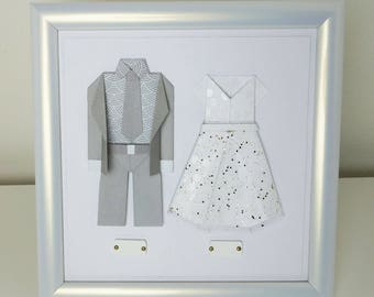 Gift couple: origami personalize frame