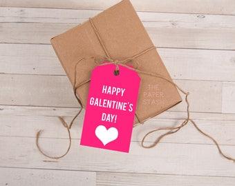 Happy Galentine's Day, PRINTABLE, Tags, PDF, Galentine's Day, DIY, Print Your Own, Valentine's Day, Printables, Printable, pdf, Gift Tags