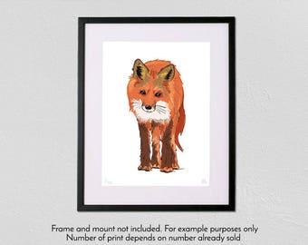 Fox - Limited Edition - A3 fine art giclée print