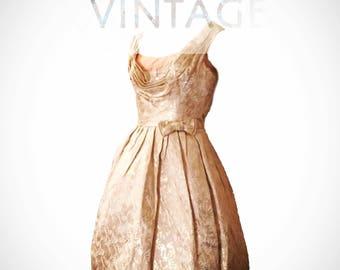 Vintage Retro 1950's Prom Dress, size XS
