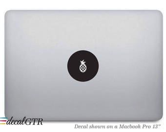 Pineapple Sticker for Macbook - Fruit Decal - Laptop Notebook Macbook Air Pro Dot Round Circle  - Removable Vinyl - T024