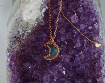 Turquoise Moon in Copper