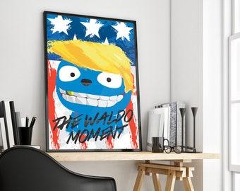 The Waldo Momement | Black Mirror | Trump Parody | Poster Print Design | A0 A1 A2 A3 A4