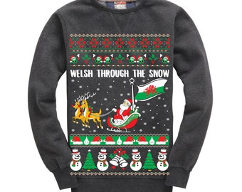 Welsh Through The Snow Christmas Sweater
