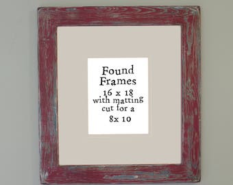 Distressed Red # 2 frame 16 x 18