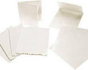 Khadi 100% Indian Cotton Hand-Made Paper Cards (pack of 5 with envelopes)