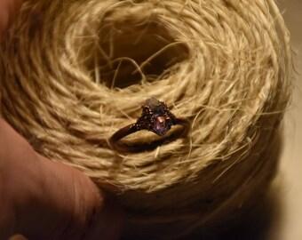 Raw amethyst ring    Amethyst crystal ring   Amethyst mineral ring   Raw gemstone ring   Healing amethyst crystal ring   Raw stone ring