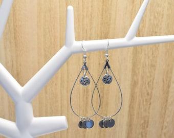 Bohemian Earrings | Designer Quality Metal | Nickel Free | Boho | Mandala | Silver Earrings