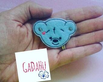 Bear feltie. Embroidery Design 4x4 hoop Instant Download. Felties