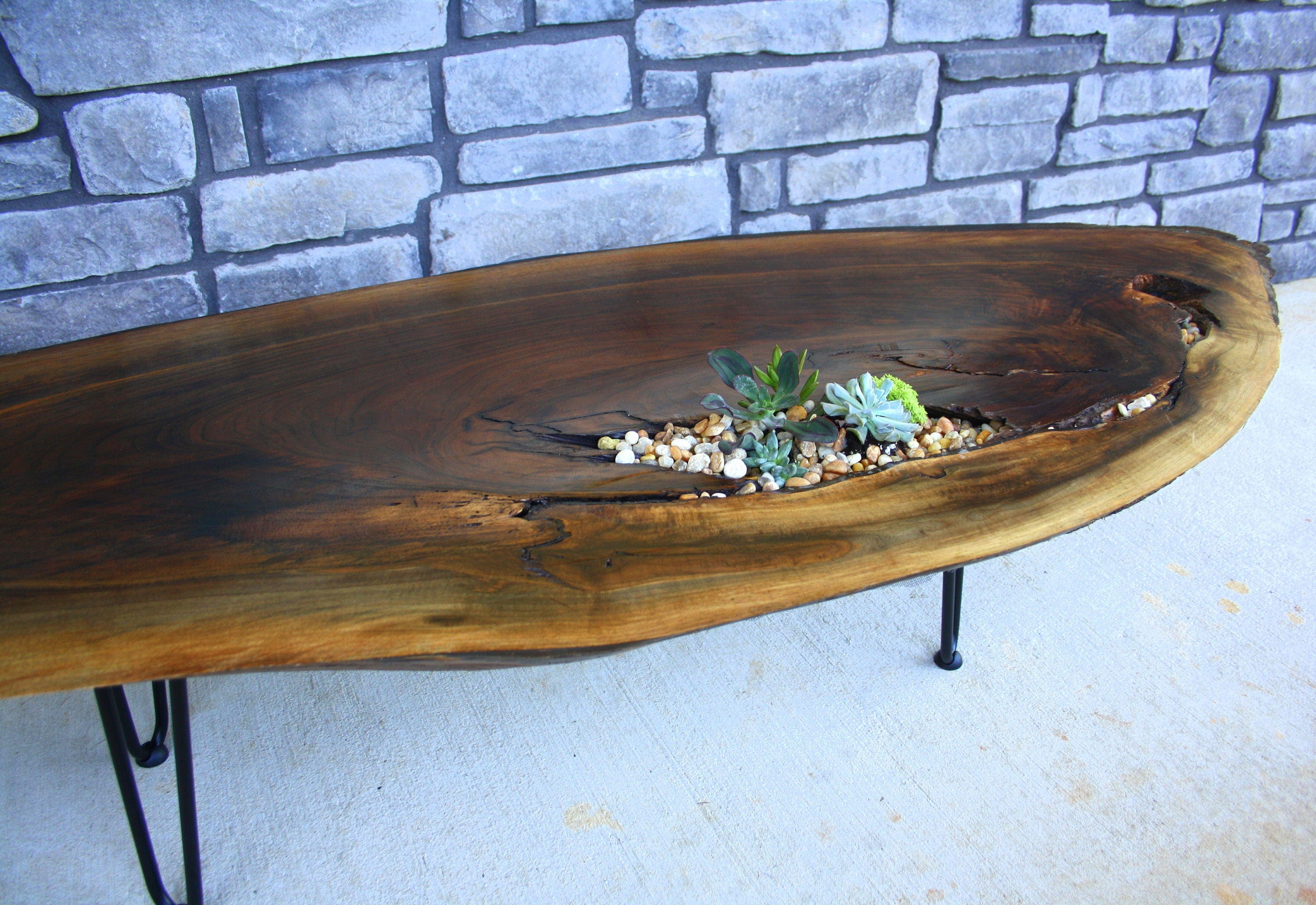 Live Edge Coffee Table Live Edge Wood Slab Table Dark