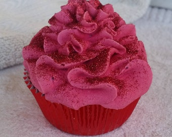 Bath Bomb Cupcake Ruby Slipper, Bath Fizzy, Foodie, Bake Scent, Luxury Bath Bomb, For Her, Wizard Of Oz Bath Bomb, Bubble Bar