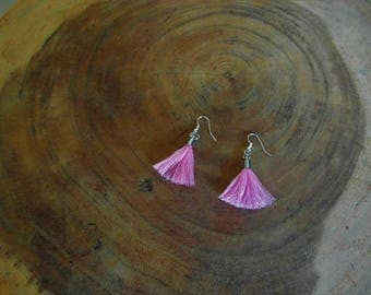 Pink Tassels Earrings