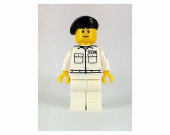 Navy Male IDF Mini-Figure- Israeli Defense Force - Jewish Custom Lego® Set from JBrick