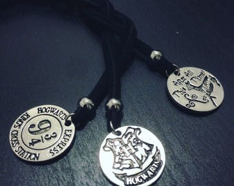 Harry Potter necklaces (Hogwarts / Express Station 9 3/4 / Always)