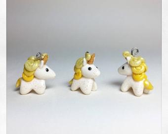 Unicorn Stitch Marker/Progress Keeper/Charm *Yellow Ombré*