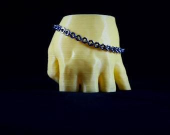 Stainless Steel Simple Hex Nut Bracelet