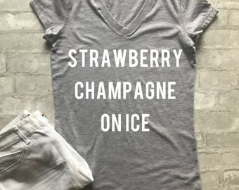 Strawberry Champagne On Ice