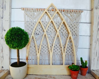 Very Pointed Cathedral Vintage Inspired Window Decor Wall Cut Out